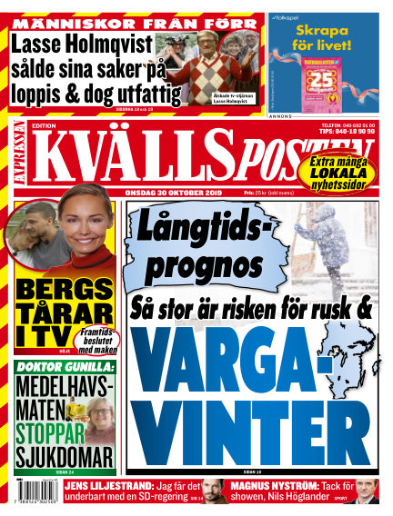 Kvällsposten October 30, 2019 00:00