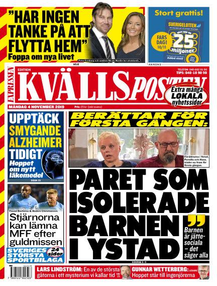 Kvällsposten November 04, 2019 00:00
