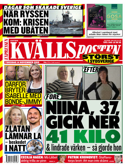 Kvällsposten November 14, 2019 00:00