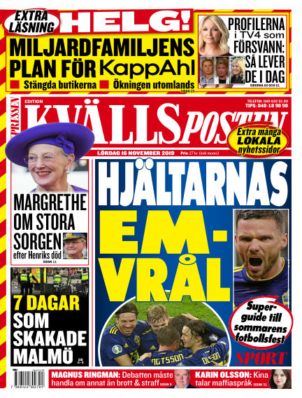 Kvällsposten November 16, 2019 00:00