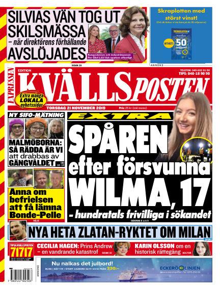 Kvällsposten November 21, 2019 00:00
