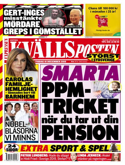 Kvällsposten December 10, 2019 00:00
