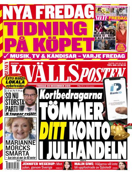 Kvällsposten December 20, 2019 00:00