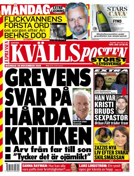 Kvällsposten December 30, 2019 00:00