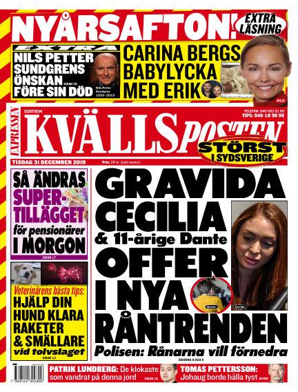 Kvällsposten December 31, 2019 00:00