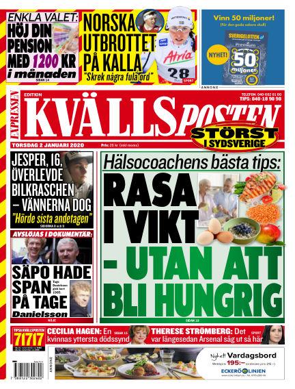 Kvällsposten January 02, 2020 00:00