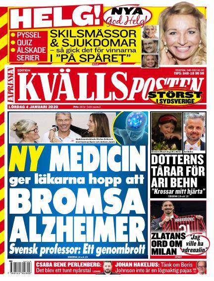 Kvällsposten January 04, 2020 00:00
