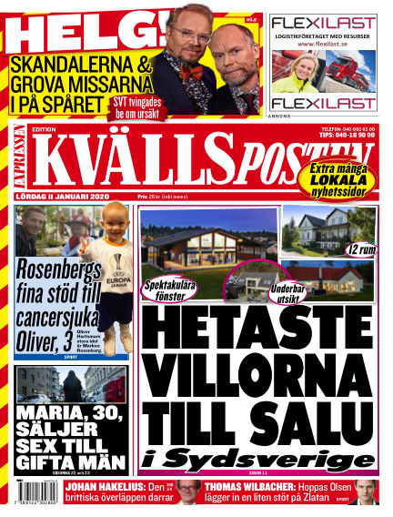 Kvällsposten January 11, 2020 00:00