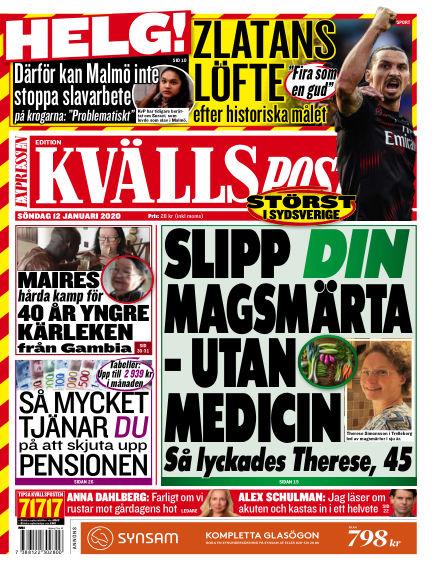 Kvällsposten January 12, 2020 00:00