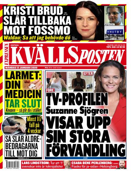Kvällsposten January 13, 2020 00:00
