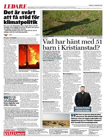Kvällsposten January 14, 2020 00:00