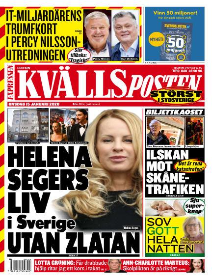 Kvällsposten January 15, 2020 00:00