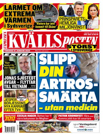 Kvällsposten January 16, 2020 00:00