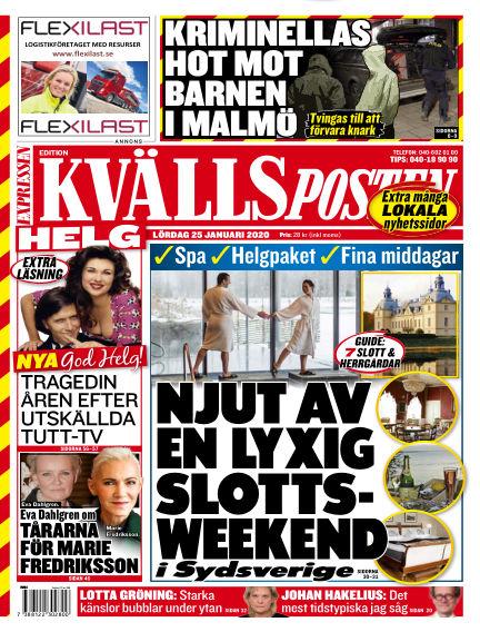 Kvällsposten January 25, 2020 00:00