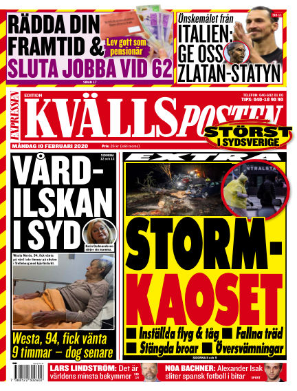 Kvällsposten February 10, 2020 00:00