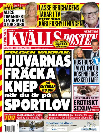 Kvällsposten February 13, 2020 00:00