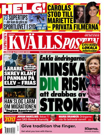 Kvällsposten February 15, 2020 00:00