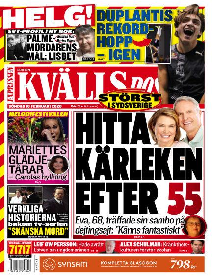 Kvällsposten February 16, 2020 00:00