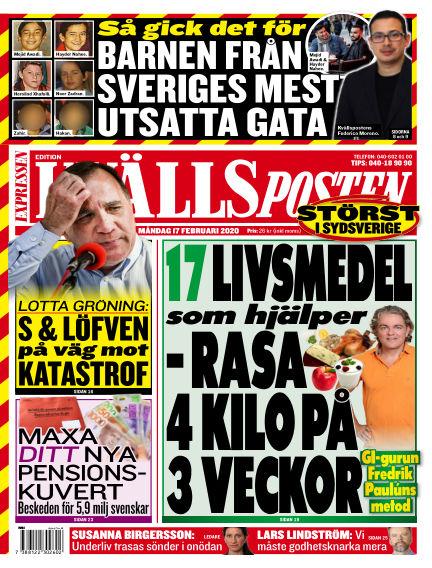 Kvällsposten February 17, 2020 00:00
