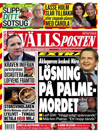 Kvällsposten February 19, 2020 00:00