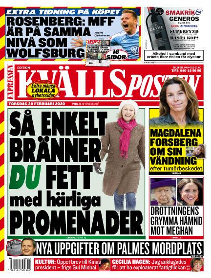 Kvällsposten February 20, 2020 00:00