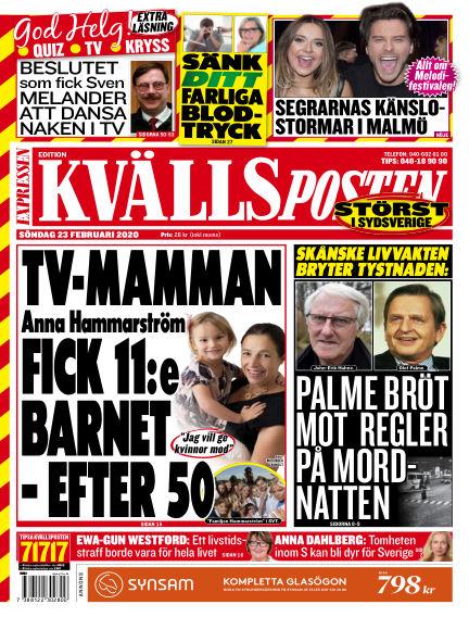 Kvällsposten February 23, 2020 00:00