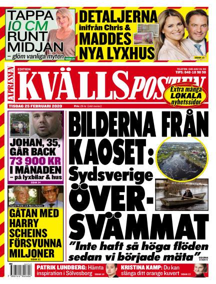 Kvällsposten February 25, 2020 00:00
