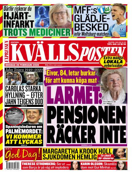 Kvällsposten February 26, 2020 00:00