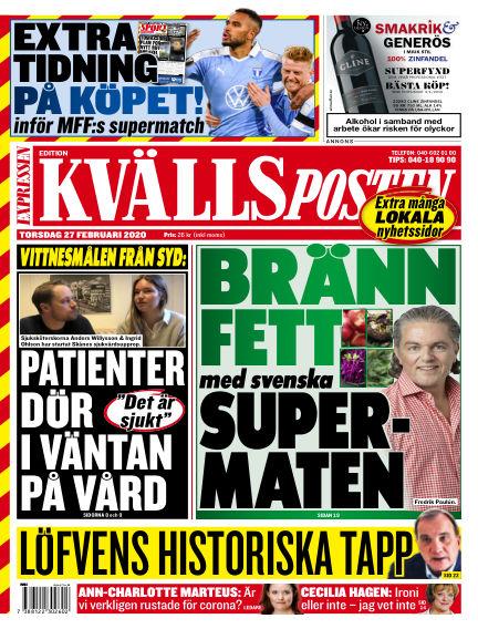 Kvällsposten February 27, 2020 00:00