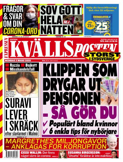 Kvällsposten March 02, 2020 00:00