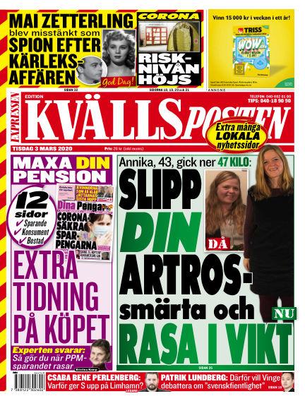 Kvällsposten March 03, 2020 00:00