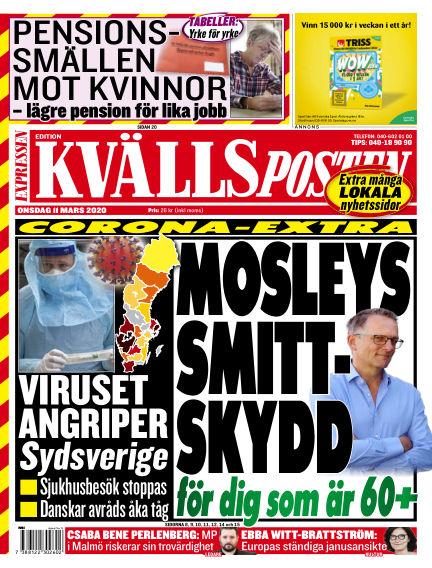 Kvällsposten March 11, 2020 00:00