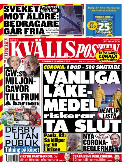 Kvällsposten March 12, 2020 00:00
