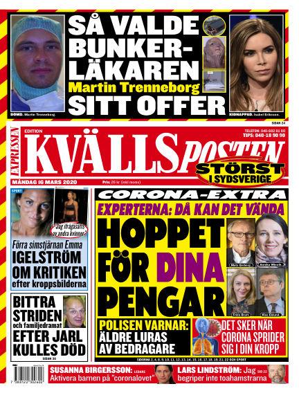 Kvällsposten March 16, 2020 00:00