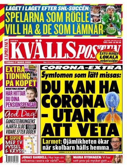 Kvällsposten March 17, 2020 00:00