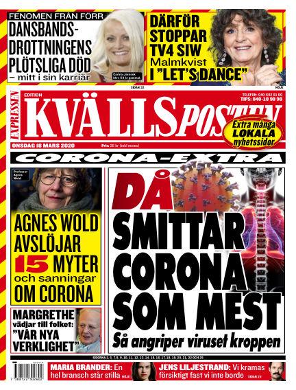 Kvällsposten March 18, 2020 00:00