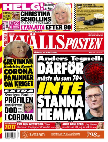 Kvällsposten March 29, 2020 00:00