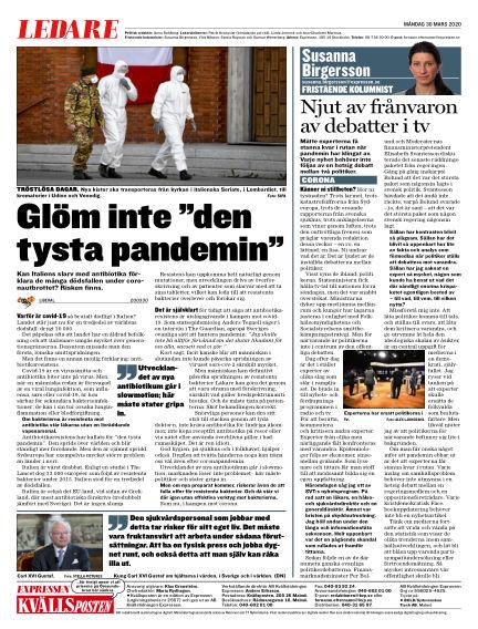 Kvällsposten March 30, 2020 00:00