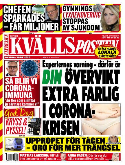 Kvällsposten April 01, 2020 00:00