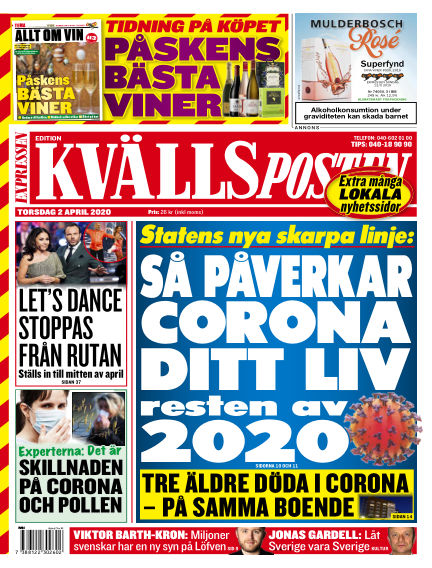 Kvällsposten April 02, 2020 00:00