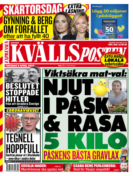 Kvällsposten April 09, 2020 00:00