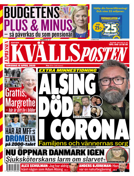Kvällsposten April 16, 2020 00:00