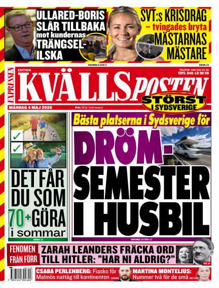 Kvällsposten May 04, 2020 00:00