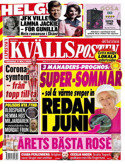 Kvällsposten May 21, 2020 00:00