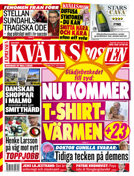 Kvällsposten May 27, 2020 00:00