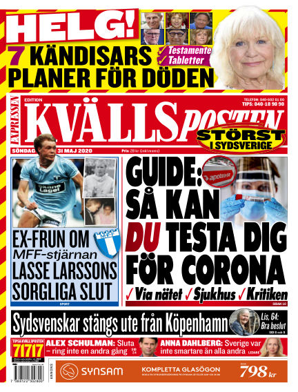 Kvällsposten May 31, 2020 00:00