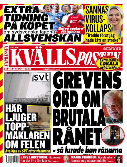 Kvällsposten June 15, 2020 00:00