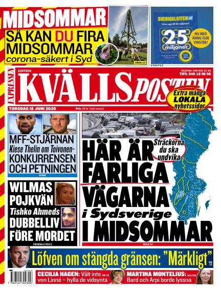Kvällsposten June 18, 2020 00:00