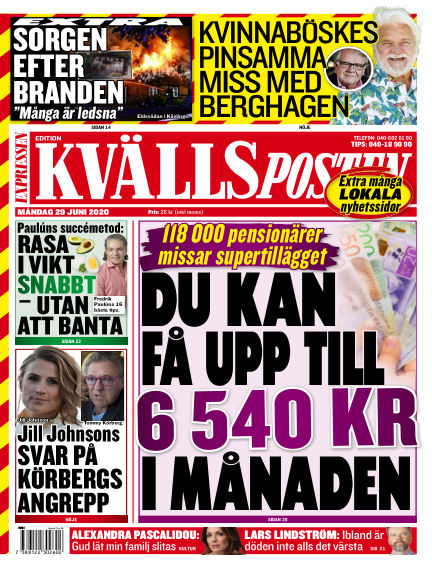 Kvällsposten June 29, 2020 00:00