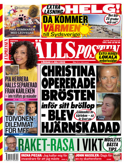 Kvällsposten July 04, 2020 00:00